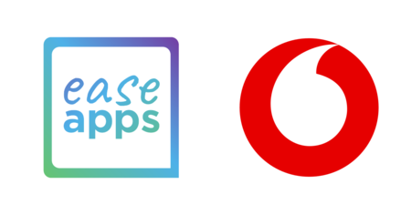 ease apps and vodafone logos