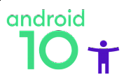 android 10 big text with accessibility icon